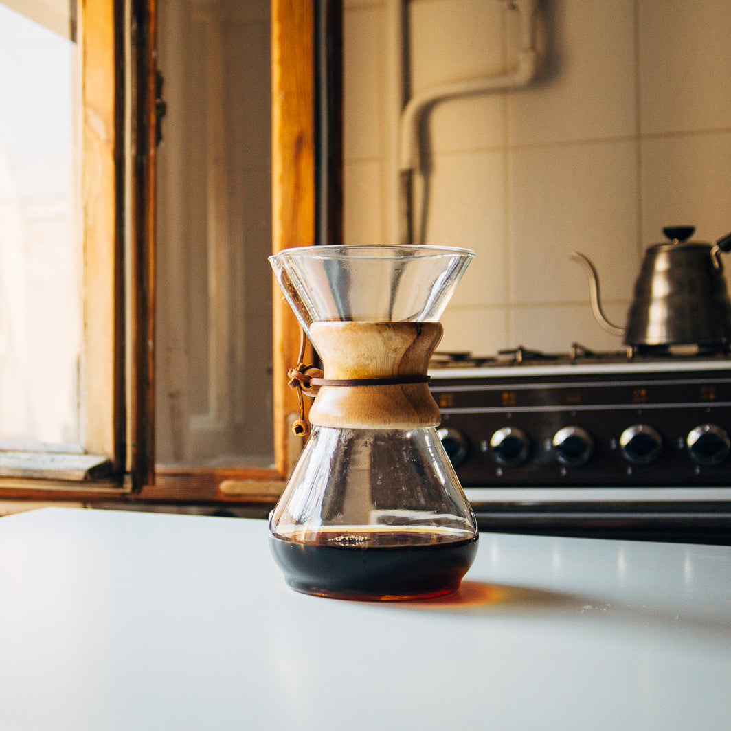 Legendary coffee making device Chemex. shop online at caffeineusa.com