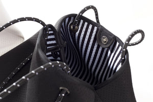 NEOPRENE TOTE BAG - BLACK