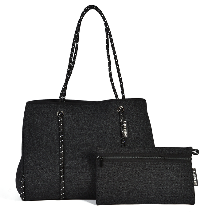 NEOPRENE TOTE BAG - DENIM BLACK