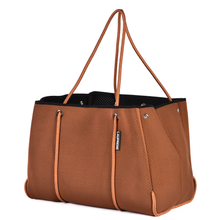 NEOPRENE TOTE BAG - CHOCOLATE