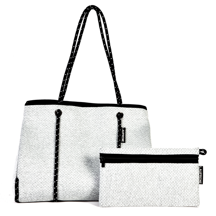 NEOPRENE TOTE BAG - LIGHT GREY