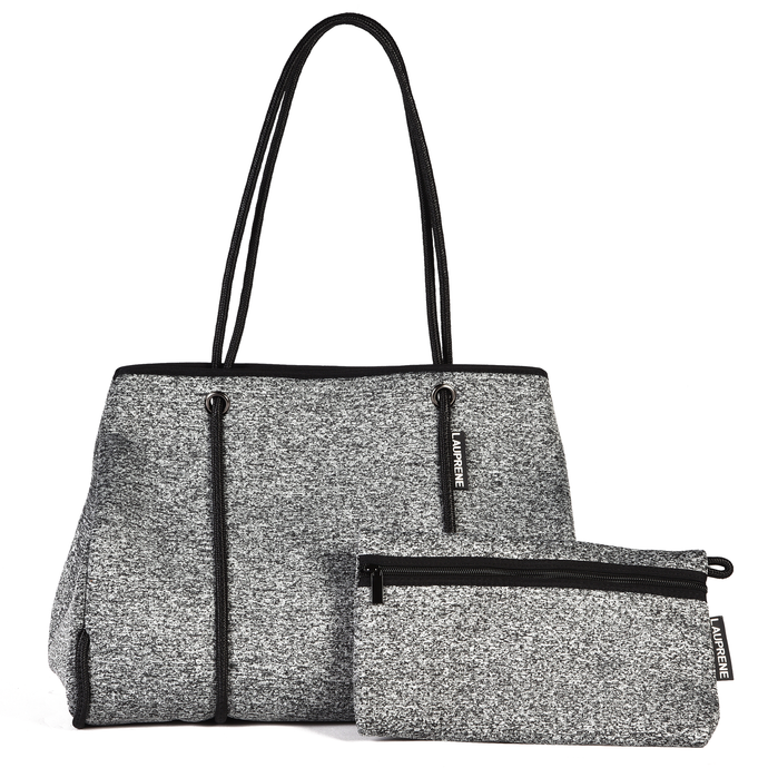 NEOPRENE TOTE BAG - MARLE GREY