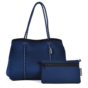 NEOPRENE TOTE BAG - NAVY