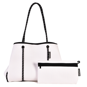 NEOPRENE TOTE BAG - WHITE