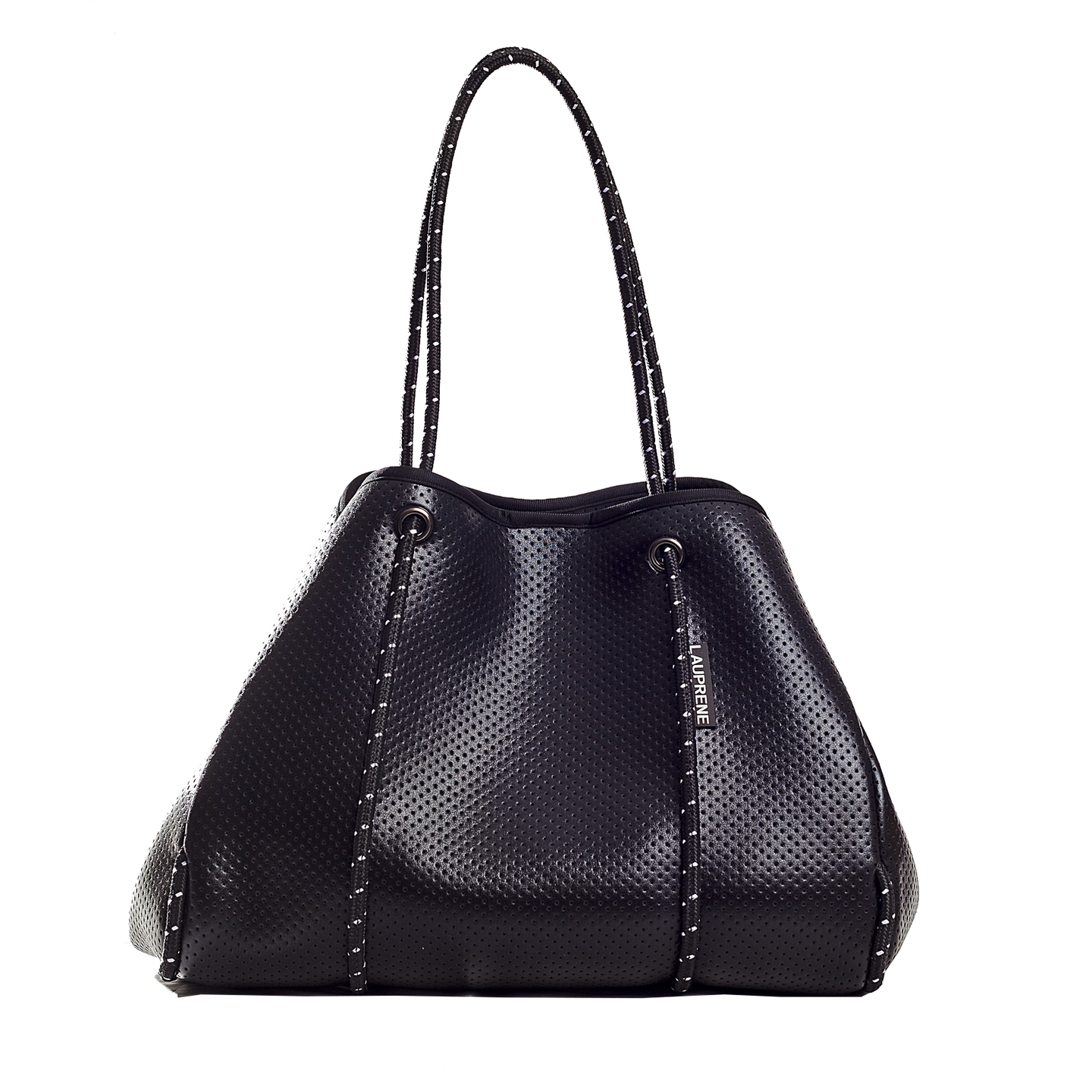 NEOPRENE TOTE BAG - METALLIC BLACK