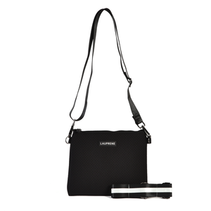 MESSENGER NEOPRENE CROSS BODY - BLACK