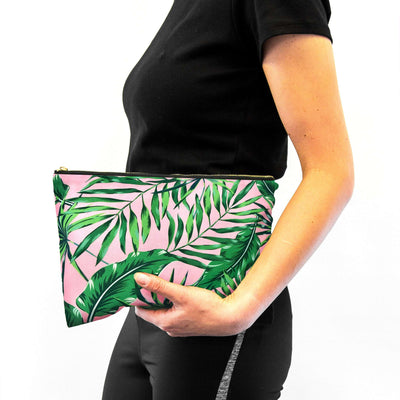 Contoured Sleep Mask & Accessory Bag Set - Palm Print
