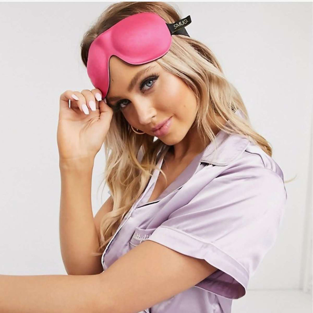 Contoured 3D Blackout Sleep Mask - Bright Pink