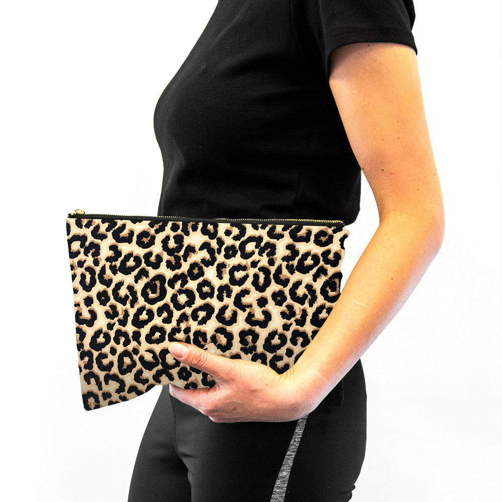 Contoured Sleep Mask & Accessory Bag Set - Animal Print