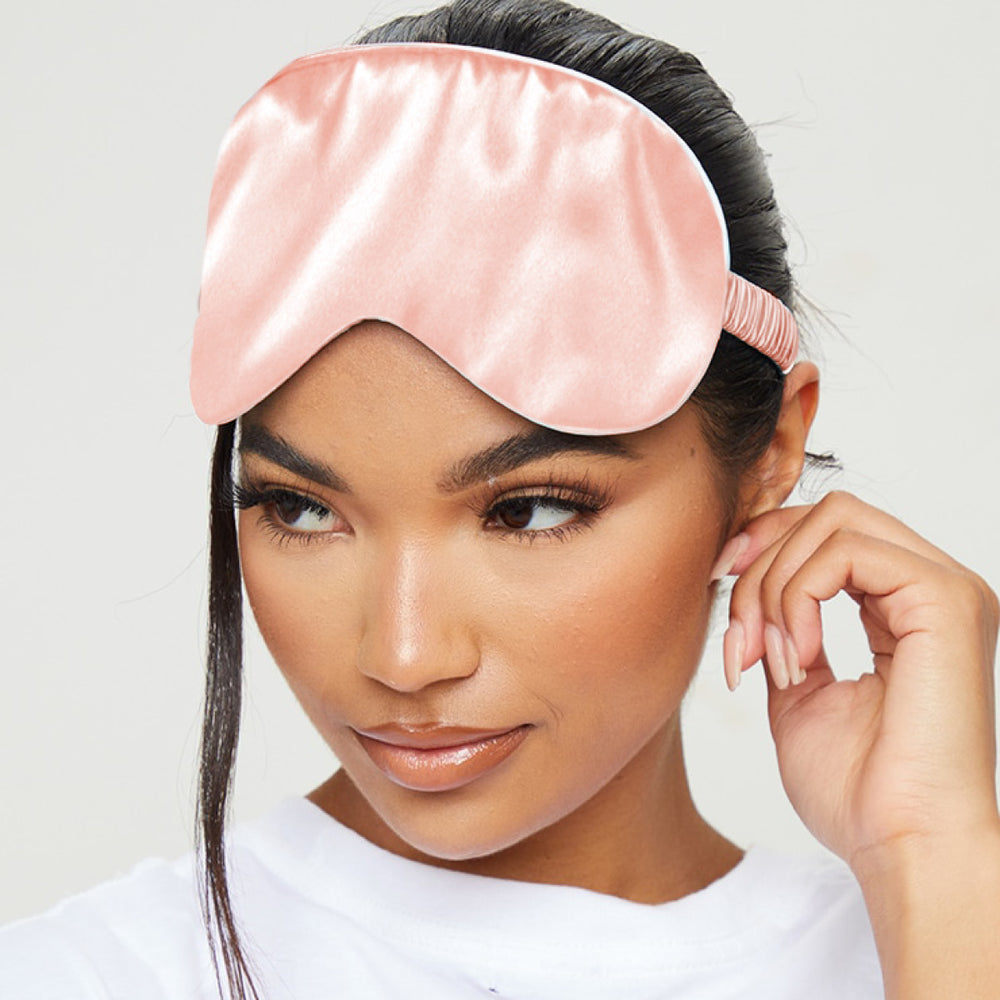 Satin Sleep Mask & Pink Storage Bag Sets - Various Designs