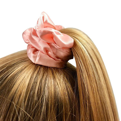 Luxury Sleep Mask, Hair Scrunchie & Pillowcase Set - Pink