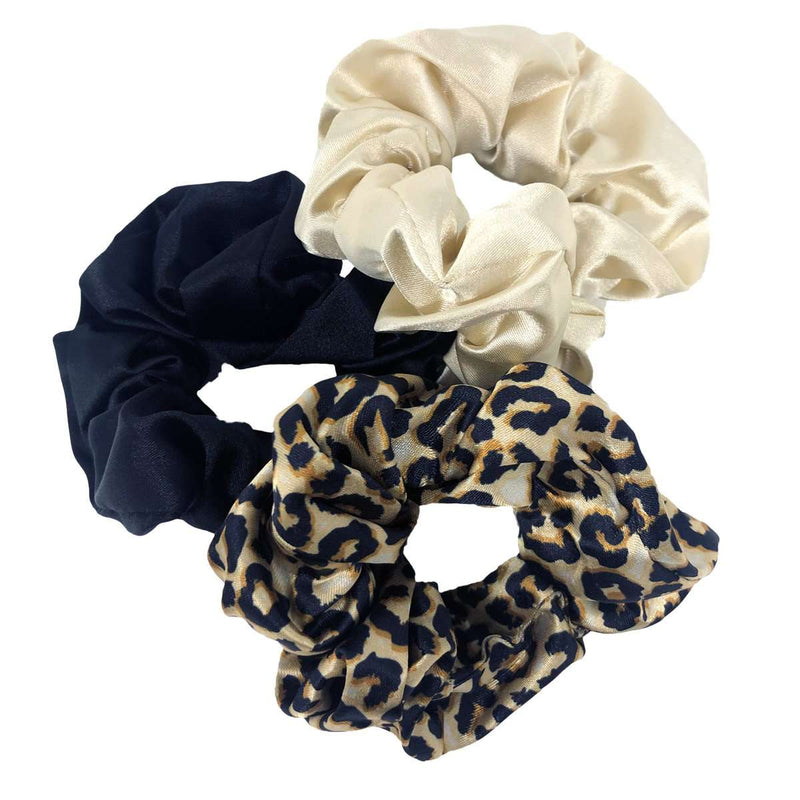 Silk Hair Scrunchies Multipack Set - 3 Colours