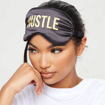 Satin Sleep Mask - Hustle Print