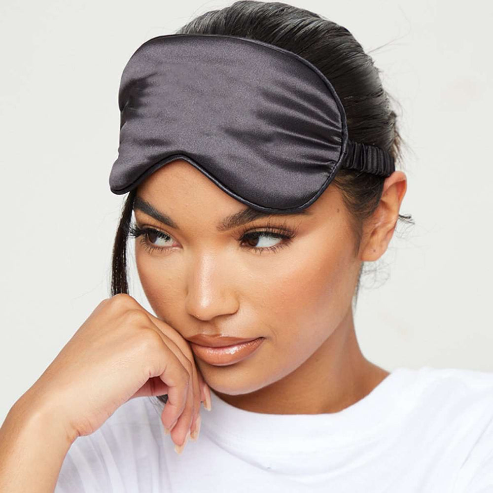 Satin Sleep Mask - Black