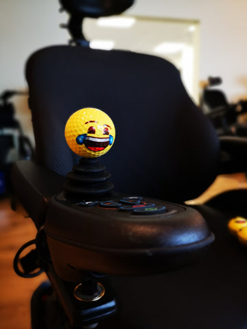 Emoji Golf Balls - Wheelchair Joystick topper