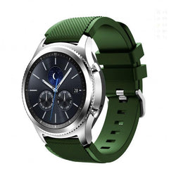 Army Green Silicone Samsung Gear S3 Band - OzStraps.me