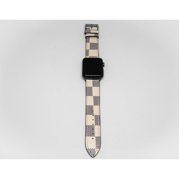 Chequered Leather Apple Watch Band - OzStraps.me