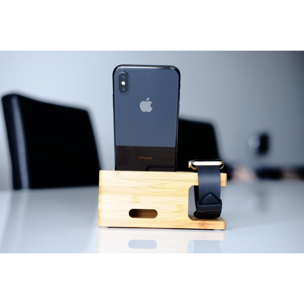 Apple Watch Stand - Bamboo Basic - OzStraps.me