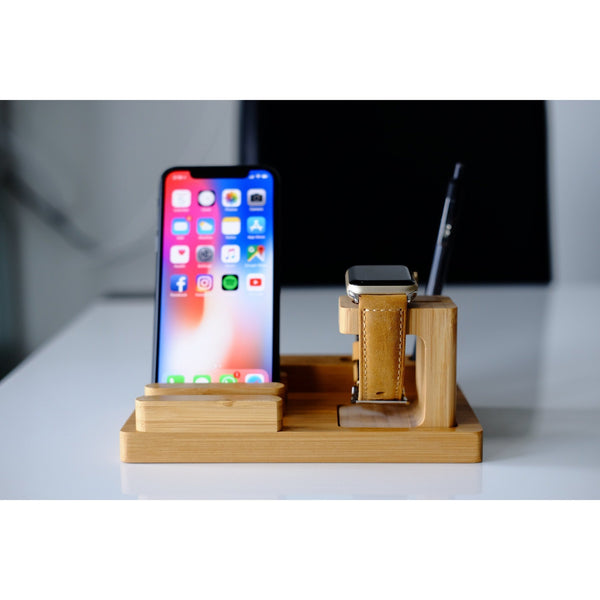 Apple Watch Stand - Bamboo Advanced - OzStraps.me