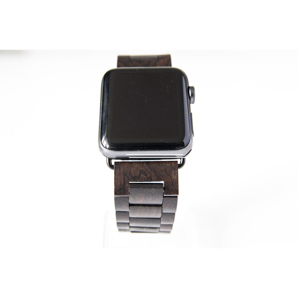 Taupe Brown Wooden Apple Watch Band - OzStraps.me