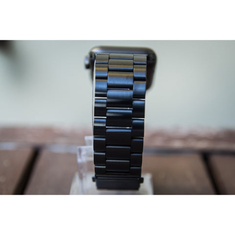Black Classic Stainless Steel Apple Watch Band - OzStraps.me