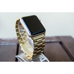 Gold Classic Stainless Steel Apple Watch Band - OzStraps.me