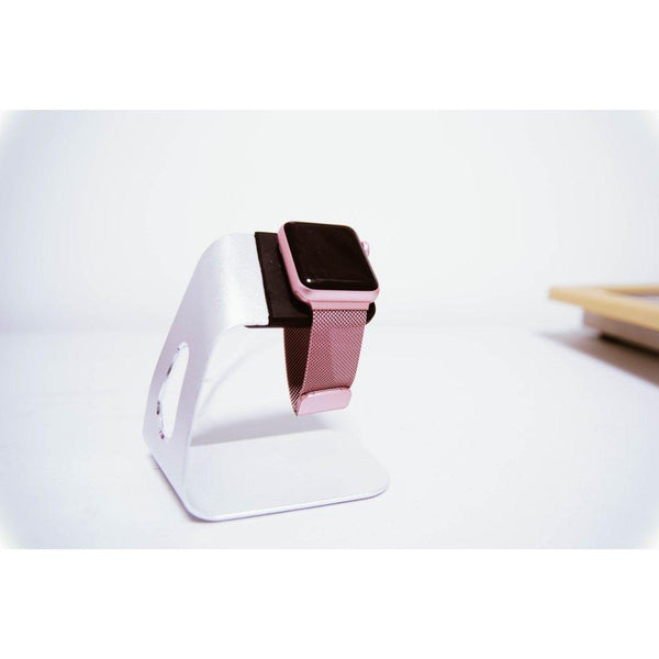 Apple Watch Stand - Silver Aluminium - OzStraps.me