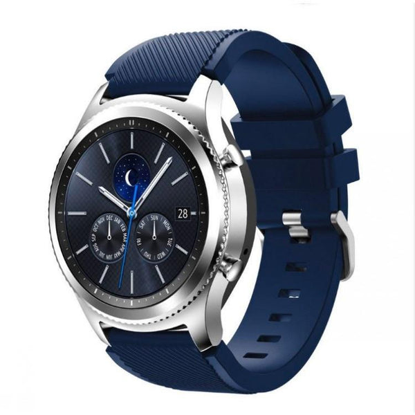 Midnight Blue Silicone Samsung Gear S3 Band - OzStraps.me
