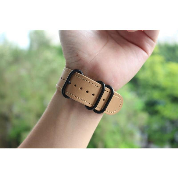 Double Rings Leather Apple Watch Band - OzStraps.me