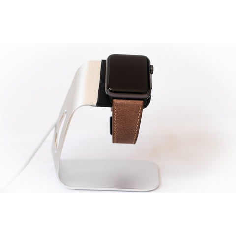 Cocoa French Calf Leather Apple Watch Band - OzStraps.me