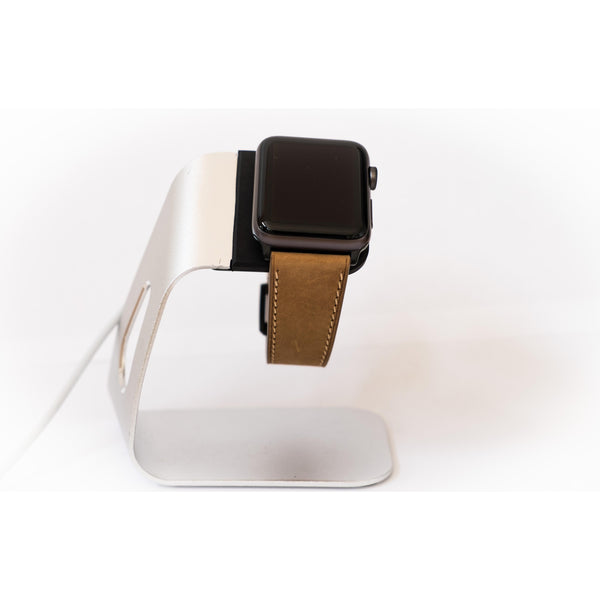Light Brown French Calf Leather Apple Watch Band - OzStraps.me