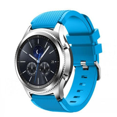 Light Blue Silicone Samsung Gear S3 Band - OzStraps.me