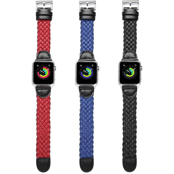 PU Leather Weave Apple Watch Band - OzStraps.me