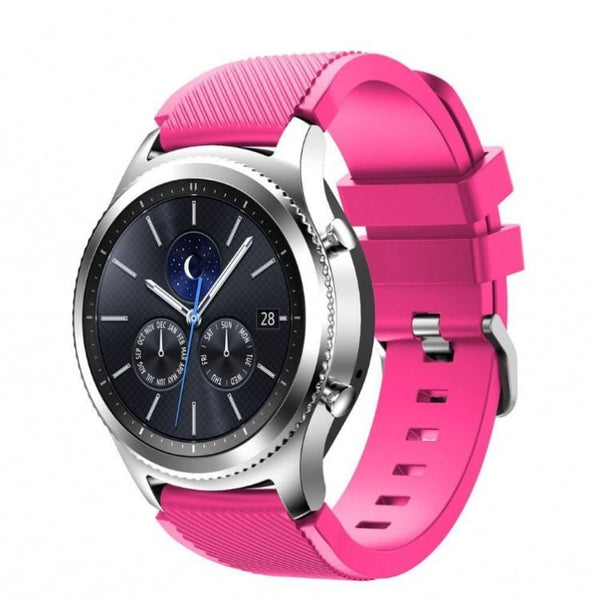 Pink Silicone Samsung Gear S3 Band - OzStraps.me