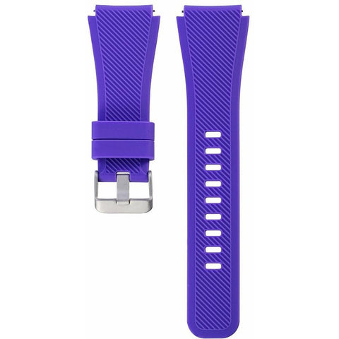 Purple Silicone Samsung Gear S3 Band - OzStraps.me