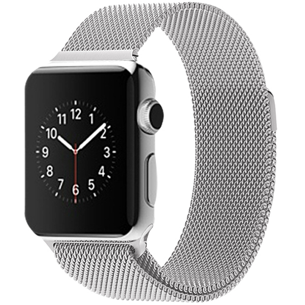 Silver Milanese Loop Apple Watch Band - OzStraps.me