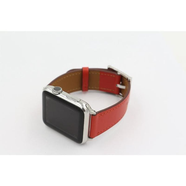 Square Buckle Leather Apple Watch Band - OzStraps.me