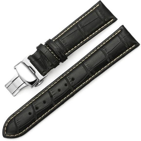 The Mayfair Black (Tan) - OzStraps.me