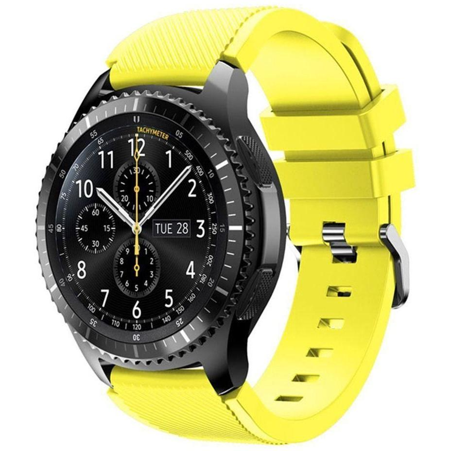 Yellow Silicone Samsung Gear S3 Band - OzStraps.me
