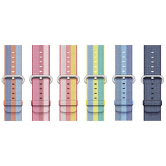 3 Stripe Woven Nylon Apple Watch Band - OzStraps.me