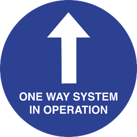 One Way System Sign