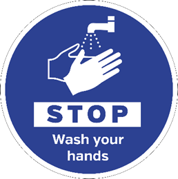 Stop Wash Hands Sign
