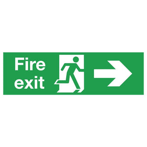 Fire Exit Fig & Arrow Right Sign