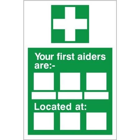 Your First Aiders Are....