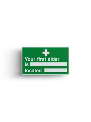 Your First Aider Is/Located Self Adhesive