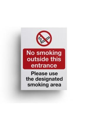 Self Adhesive No Smoking/Use Smoking Areas