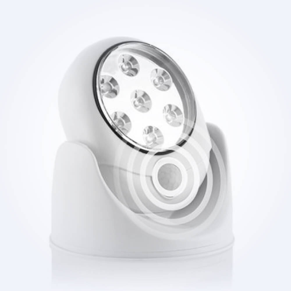 Candeeiro LED com sensor de movimento