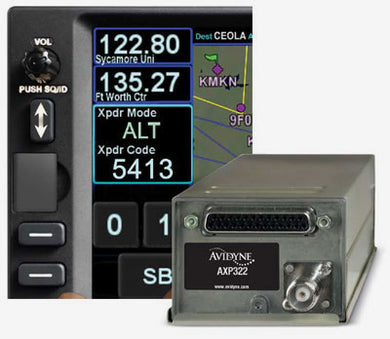 Avidyne AXP322 Remote Mode S Transponder with ADS-B Out