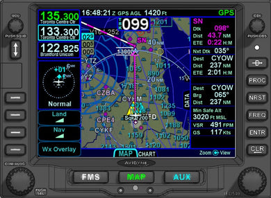 Avidyne IFD540 SBAS/COM/NAV/SVS/WiFi/BT *ADS-B Options*