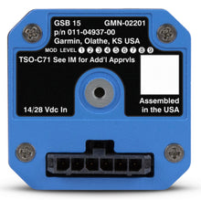 Garmin GSB15 Dual USB Charger Vertical Connector (Back of Unit)